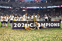 LAS VEGAS, NV - AUGUST 1: The USMNT celebrate after a game between Mexico and USMNT at Allegiant Stadium on August 1, 2021 in Las Vegas, Nevada.