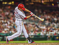 20 May 2014: Washington Nationals infielder Anthony Rendon in action against the Cincinnati Reds at Nationals Park in Washington, DC. The Nationals defeated the Reds 9-4 to take the second game of their 3-game series. Mandatory Credit: Ed Wolfstein Photo *** RAW (NEF) Image File Available ***