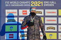 12th February 2021; Idre Fjall, Sweden; Alessandro Hommerle of Austria during the FIS Ski Cross World Championships 2021 at the Idre, Sweden