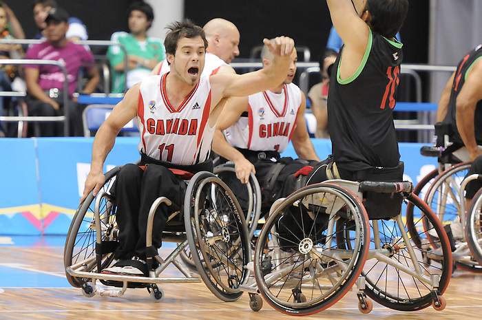 Chad Jassman, Guadalajara 2011 - Wheelchair Basketball // Basketball en fauteuil roulant.<br /> Team Canada competes in the bronze medal game // Équipe Canada participe au match pour la médaille de bronze. 11/18/2011.