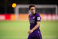 LAKE BUENA VISTA, FL - JULY 14: Mauricio Pereyra #10 of Orlando City SC looks on during a game between Orlando City SC and New York City FC at Wide World of Sports on July 14, 2020 in Lake Buena Vista, Florida.