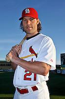 Mar 01, 2010; Jupiter, FL, USA; St. Louis Cardinals catcher Jason LaRue (21) during  photoday at Roger Dean Stadium. Mandatory Credit: Tomasso De Rosa/ Four Seam Images