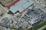 The town centre and library destroyed after a fire in Slave Lake, seen in an aerial view around Slave Lake, Alberta on May 19, 2011. Jimmy Jeong / www.jimmyshoots.com
