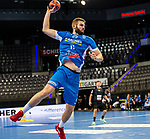 Samuel Roethlisberger (TVB Stuttgart #17) ; BGV Handball Cup 2020 Finaltag: TVB Stuttgart vs. FRISCH AUF Goeppingen am 13.09.2020 in Stuttgart (PORSCHE Arena), Baden-Wuerttemberg, Deutschland<br /> <br /> Foto © PIX-Sportfotos *** Foto ist honorarpflichtig! *** Auf Anfrage in hoeherer Qualitaet/Aufloesung. Belegexemplar erbeten. Veroeffentlichung ausschliesslich fuer journalistisch-publizistische Zwecke. For editorial use only.