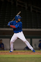 AZL Cubs 1 first baseman Franklin Tineo (11) at bat during an Arizona League game against the AZL Cubs 1 at Sloan Park on June 28, 2018 in Mesa, Arizona. The AZL Athletics defeated the AZL Cubs 1 5-4. (Zachary Lucy/Four Seam Images)