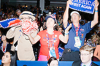 People boo during Texas senator and former Republican presidential candidate Ted Cruz's speech on the third day of the Republican National Convention in the Quicken Loans Arena in Cleveland, Ohio, on Wed., July 20, 2016. In his speech, Cruz did not explicitly endorse the official Republican nominee, Donald Trump, instead urging voters to vote with their conscience in the general election.