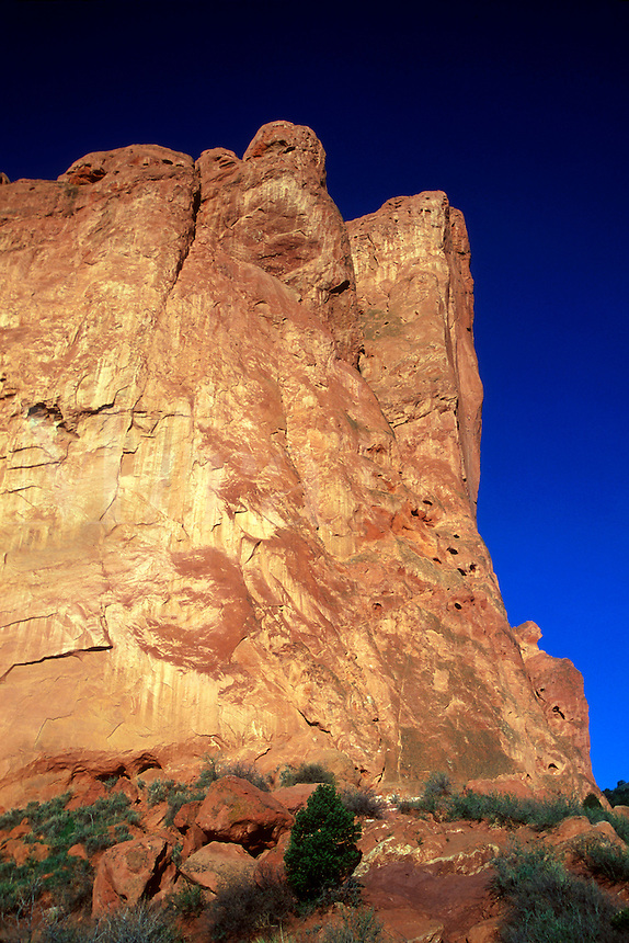 Sedimentary rock formation in the Garden of the Gods Park, Colorado