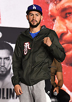 LOS ANGELES, CA - APRIL 29: Javier Molina attends the undercard press conference for the Andy Ruiz Jr. vs Chris Arreola Fox Sports PBC Pay-Per-View in Los Angeles, California on April 29, 2021. The PPV fight is on May 1, 2021 at Dignity Health Sports Park in Carson, CA. (Photo by Frank Micelotta/Fox Sports/PictureGroup)