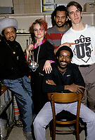 Montreal (Qc) CANADA - File Photo - circa 1986- EXCLUSIVE PHOTO - <br /> Montreal reggae band DUB U-5  backstage at Club Soda.<br /> <br /> -Photo (c)  Images Distribution