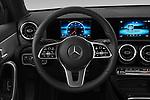 Car pictures of steering wheel view of a 2019 Mercedes Benz A-Class-Sedan A-220 4 Door Sedan Steering Wheel