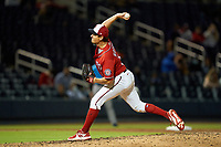 Washington Nationals pitcher Ryne Harper (33) during a Major League Spring Training game against the Miami Marlins on March 20, 2021 at FITTEAM Ballpark of the Palm Beaches in Palm Beach, Florida.  (Mike Janes/Four Seam Images)