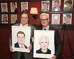 John Goodman and John Slattery Sardi's Caricatures unveiled