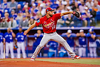 26 March 2018: St. Louis Cardinals starting pitcher Michael Wacha on the mound during an exhibition game against the Toronto Blue Jays at Olympic Stadium in Montreal, Quebec, Canada. The Cardinals defeated the Blue Jays 5-3 in the first of two MLB pre-season games in the former home of the Montreal Expos. Mandatory Credit: Ed Wolfstein Photo *** RAW (NEF) Image File Available ***