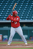 Wilfred Astudillo (54) of the ACL Reds during a game against the ACL Cubs on September 17, 2021 at Sloan Park in Mesa, Arizona. (Tracy Proffitt/Four Seam Images)