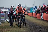 Jolanda Neff (SUI/Trek-Segafredo) and Annemarie Worst (NED) <br /> <br /> Women's Elite race<br /> <br /> UCI 2019 Cyclocross World Championships<br /> Bogense / Denmark<br /> <br /> ©kramon