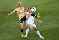 Kritsine Lilly battles for the ball..International friendly, USA Women vs Mexico, Albuquerque, NM,.October 20, 2006.