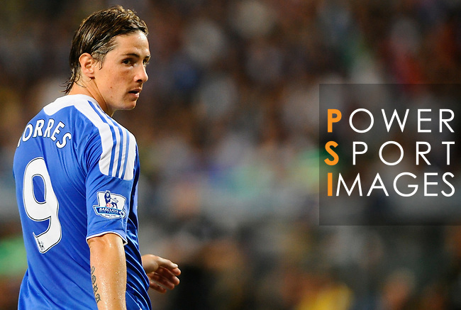 SO KON PO, HONG KONG - JULY 30: Fernando Torres of Chelsea looks on during the Asia Trophy Final match against Aston Villa at the Hong Kong Stadium on July 30, 2011 in So Kon Po, Hong Kong.  Photo by Victor Fraile / The Power of Sport Images
