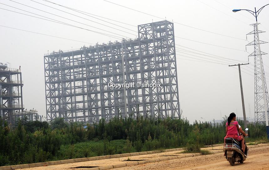 Renesola polysilicon plant in Meishan Sichuan, China,  <br /> <br /> photo by Richard Jones/Sinopix
