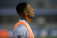 SAN JOSE, CA - SEPTEMBER 13: Javier Hernandez #14 of the L.A  Galaxy during warm ups during a game between Los Angeles Galaxy and San Jose Earthquakes at Earthquakes Stadium on September 13, 2020 in San Jose, California.