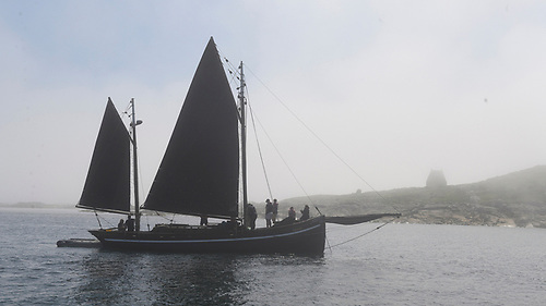 After Inishbofin, the hooker sets a course for the Mayo islands of Inishturk, Clare Island, and then Achill