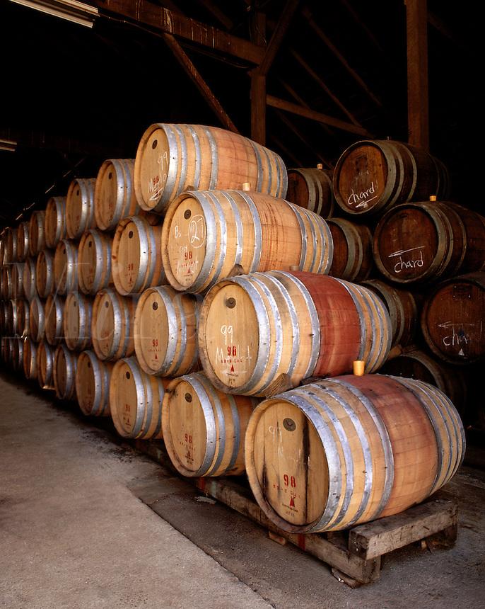 OAK BARREL CASKS for AGING WINE - MONTEREY COUNTY, CALIFORNIA.