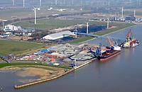 Brunsbüttel Port Elbehafen: EUROPA, DEUTSCHLAND, SCHLESWIG-HOLSTEIN, BRUNSBUETTEL , (EUROPE, GERMANY), 28.03.2017: Die Brunsbüttel Ports GmbH ist ein privater Hafenbetreiber mit Sitz in Brunsbüttel.