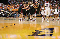 6 April 2008: Stanford Cardinal (L-R) Jayne Appel, JJ Hones, Candice Wiggins, Jeanette Pohlen, and Kayla Pedersen during Stanford's 82-73 win against the Connecticut Huskies in the 2008 NCAA Division I Women's Basketball Final Four semifinal game at the St. Pete Times Forum Arena in Tampa Bay, FL.