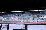 Fussball - 3.Bundesliga - Saison 2020/21<br /> Kaiserslautern -  Fritz-Walter-Stadion 03.04.2021<br /> 1. FC Kaiserslautern (fck)  - FC Halle (hal)<br /> Fantransparente in der Westkurve<br /> <br /> Foto © PIX-Sportfotos *** Foto ist honorarpflichtig! *** Auf Anfrage in hoeherer Qualitaet/Aufloesung. Belegexemplar erbeten. Veroeffentlichung ausschliesslich fuer journalistisch-publizistische Zwecke. For editorial use only. DFL regulations prohibit any use of photographs as image sequences and/or quasi-video.
