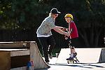 Skateboard class at Grant Park