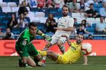 Real Madrid's Dani Carvajal during La Liga match between Real Madrid and Villarreal CF at Santiago Bernabeu Stadium in Madrid, Spain. May 05, 2019. (ALTERPHOTOS/A. Perez Meca)