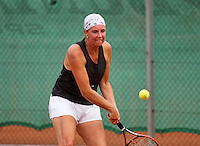 Netherlands, Amstelveen, August 21, 2015, Tennis,  National Veteran Championships, NVK, TV de Kegel,  Lady's 45+,   Annemiek Wissink<br /> Photo: Tennisimages/Henk Koster