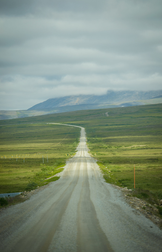 Teller Road, near Nome Alaska. Photo by James R. Evans