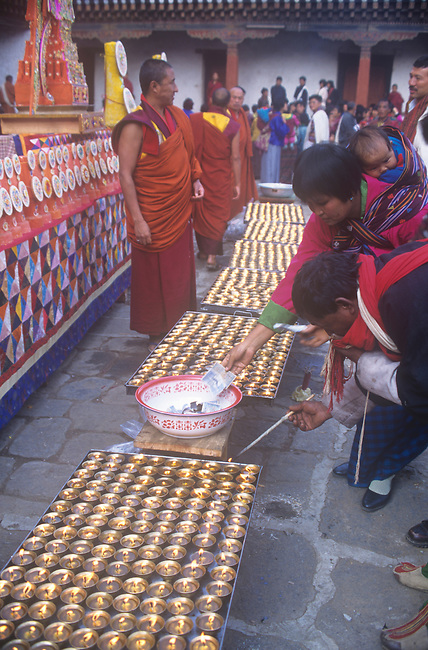 Offerings, Sedra Festival. Punakha, Bhutan