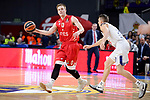 Real Madrid's Jaycee Carroll and Crvena Zvezda Mts Belgrade's Nate Wolters during Turkish Airlines Euroleague match between Real Madrid and Crvena Zvezda Mts Belgrade at Wizink Center in Madrid, Spain. March 10, 2017. (ALTERPHOTOS/BorjaB.Hojas)
