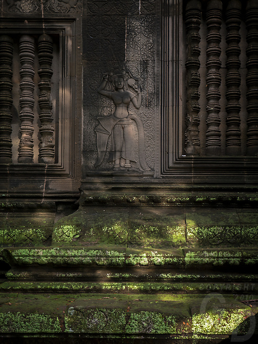 Intricate bas reliefs and carvings throughout Angkor Wat temple
