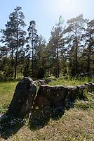 Schiffssetzung Tjelvars Grav bei Åminne  auf der Insel Gotland, Schweden, Europa<br /> ship setting Tjelvars Grav near Amine, Isle of Gotland Sweden