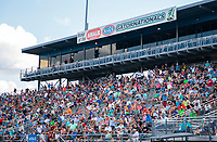 Sep 26, 2020; Gainesville, Florida, USA; General view of NHRA fans in the grandstands during qualifying for the Gatornationals at Gainesville Raceway. Mandatory Credit: Mark J. Rebilas-USA TODAY Sports