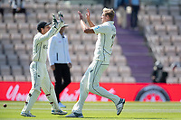BJ Watling and Kyle Jamieson, New Zealand celebrate as they combined to dismiss Virat Kohli, Indiaduring India vs New Zealand, ICC World Test Championship Final Cricket at The Hampshire Bowl on 23rd June 2021