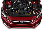 Car Stock 2021 Subaru Impreza Limited 4 Door Sedan Engine  high angle detail view