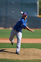 Texas Rangers pitcher Edgar Arredondo (37) during an instructional league game against the San Diego Padres on October 9, 2015 at the Surprise Stadium Training Complex in Surprise, Arizona.  (Mike Janes/Four Seam Images)