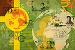 Illustrative representation of global currency