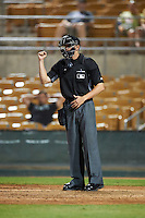 Umpire Travis Eggert during an Arizona Fall League game between the Salt River Rafters and Glendale Desert Dogs on October 19, 2016 at Camelback Ranch in Glendale, Arizona.  Salt River defeated Glendale 4-2.  (Mike Janes/Four Seam Images)