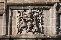 Europe/France/Midi-Pyrénées/46/Lot/Assier: le Château- la façade intérieure - détail des motifs de la frise à compartiments  contant les exploits de Galiot de Genouillac.