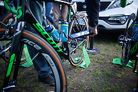 mechanical doping scans by the UCI on the Orica-GreenEDGE bikes ahead of the 114th Paris-Roubaix 2016