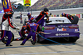 Monster Energy NASCAR Cup Series<br /> Pure Michigan 400<br /> Michigan International Speedway, Brooklyn, MI USA<br /> Sunday 13 August 2017<br /> Denny Hamlin, Joe Gibbs Racing, FedEx Office Toyota Camry<br /> World Copyright: Nigel Kinrade<br /> LAT Images