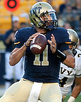 Pittsburgh Panthers quarterback Bill Stull. The Pittsburgh Panthers defeated the Navy Midshipmen 27-14 at Heinz Field, Pittsburgh, PA.