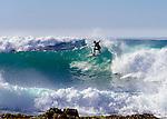 Surfers on the Coast of California