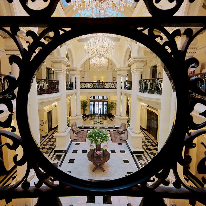The Restored Shanghai Club's Entrance Foyer.  (Now The Waldorf Astoria Hotel.)