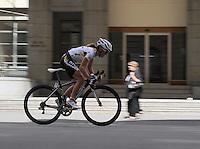 HTC Highroad Women's Amanda Miller (USA). NZCT Women's Cycling Tour of New Zealand Stage 6 - Criterium at Lambton Quay, Wellington, New Zealand on Sunday, 27 February 2011. Photo: Dave Lintott / lintottphoto.co.nz