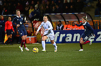Lorient, France. - Sunday, February 8, 2015:  Amy Rodriguez (8) of the USWNT. France defeated the USWNT 2-0 during an international friendly at the Stade du Moustoir.